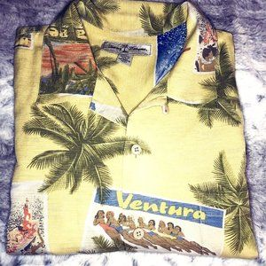 Tommy Bahama 100% Silk Button Down Large